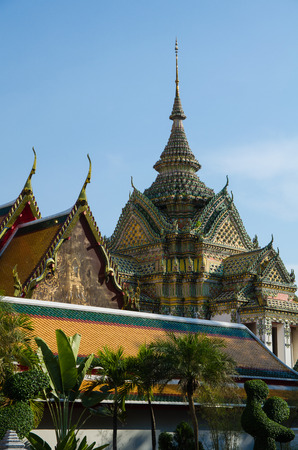 Part of temple in bangkok Stock Photo