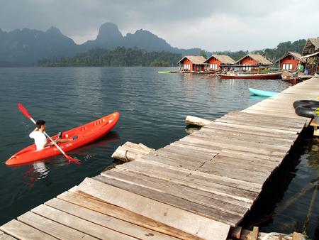 thani: Kayak at Surat thani , thailand