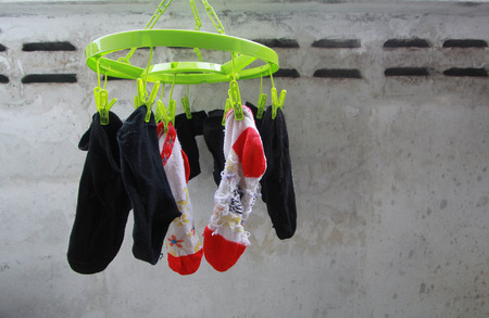 socks drying