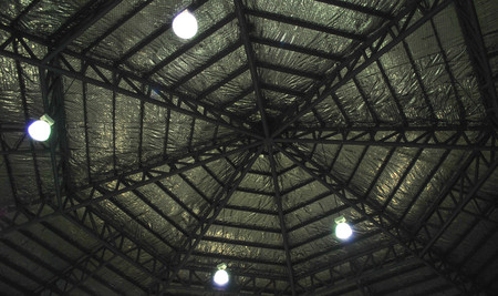 the spider structure web roof black photo (blur picture) Stock Photo