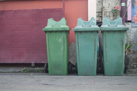 green litter bin public