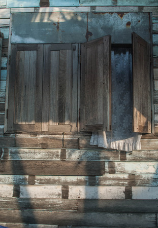 old window Wooden house