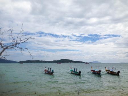Fishing boat at Rawai beach at phuket thailand Stock Photo