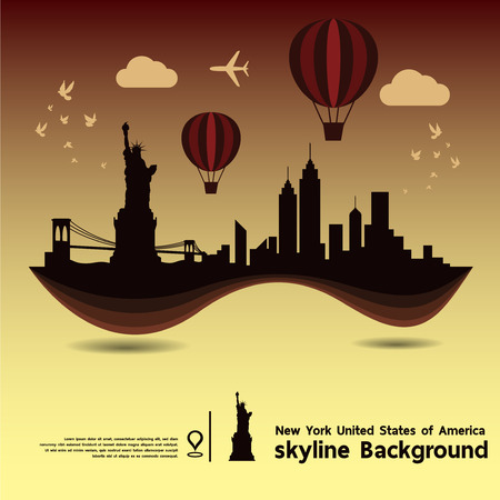 new york skyline: New York, United States of America, skyline design and  travel destination, vector Illustration Illustration
