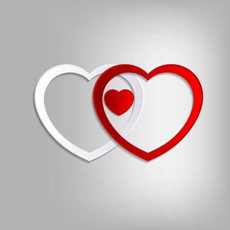 enamored: Lovely heart Background Illustration