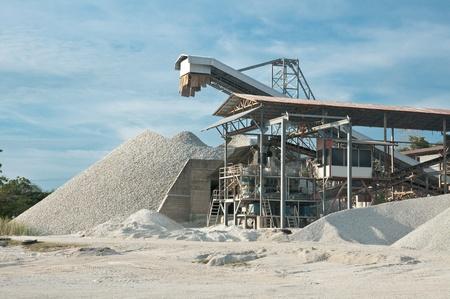 cemento: Industria de la piedra al sur de Tailandia Foto de archivo