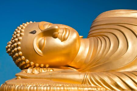 Reclining Buddha image, south of Thailand  photo