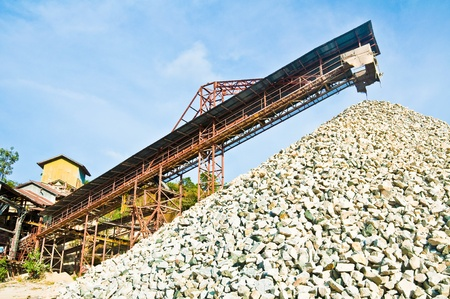 sand quarry: Stone industry Stock Photo
