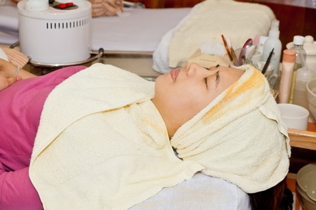 young girl beauty spa photo