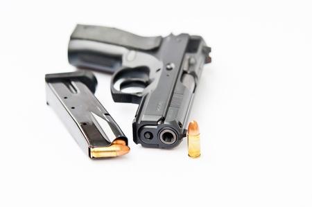 Hand gun and magazine Stock Photo - 11983784