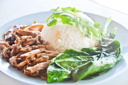 Chinese pork rice photo