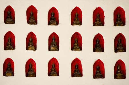 properous: Buddha on red  Stock Photo