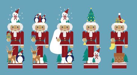 Decorated cute Santa claus for christmas Vector