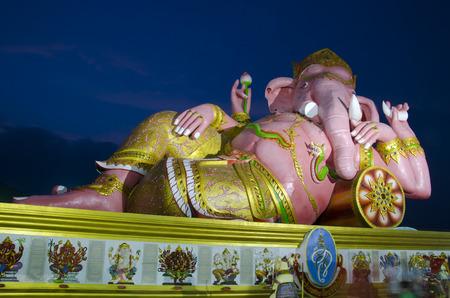 siddhivinayaka: Pink Ganesha Statue, Wat Saman Rattanaram, Chachoengsao, Thailand - January, 2013