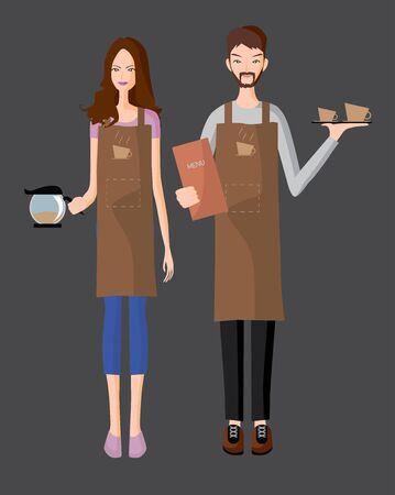 serve: Baristas serve a coffee