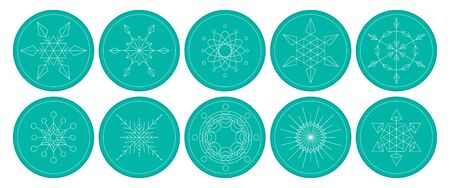 ion: vectior of christmas snowflakes element ion white background Illustration