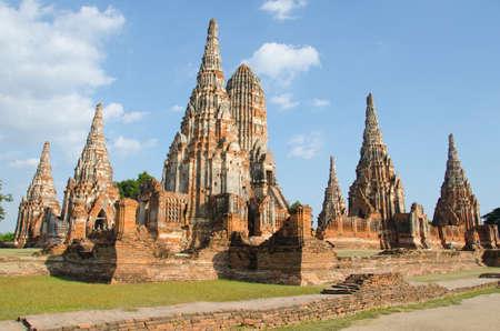 ruin: ruin temple, Wat Chaiwatthanaram, Ayutthaya, Thailand Stock Photo