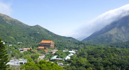 Ansicht von Po-Lin-Kloster, Lantau Island, Hong Kong