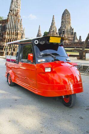 tuktuk: TukTuk  on the road in Ayutthaya, Thailand.