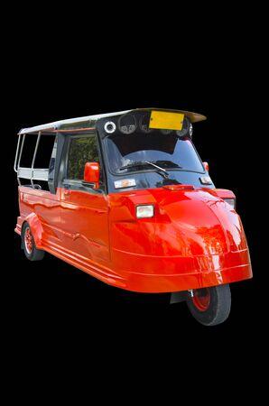 tuktuk: TukTuk in Ayutthaya, Thailand. isolated on black