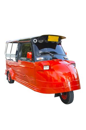 tuktuk: TukTuk in Ayutthaya, Thailand. isolated on white