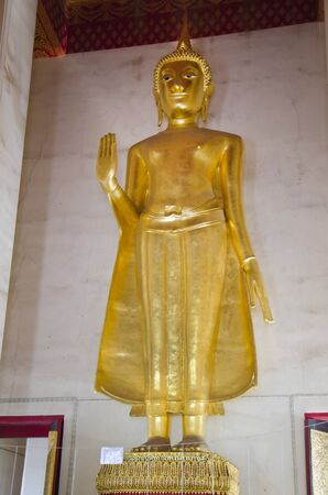 buddha statue: golden buddha statue in wat Saket, Bangkok, Thailand