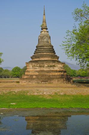sukhothai: old temple in Sukhothai Historical Park, Thailand