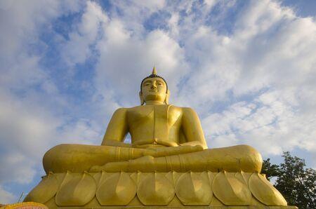 The Golden Buddha at Phu Salao temple near the Mekong river, Pakse, Laos.