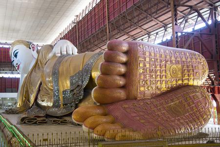 Reclining Buddha, Kyauk Htat Gyi, Yangon, Myanmar