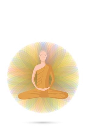 buddhist monk: Monk meditation
