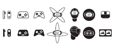 move controller: vector of Virtual Reality tools icon Illustration