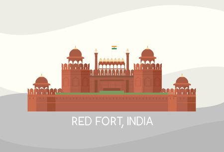Vektor von Rotes Fort, Indien Standard-Bild - 83922189