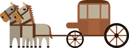 vector of horse carriage Illustration