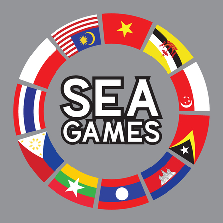 SEA games and south east asia flags