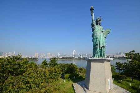 statue of liberty at Odaiba,Tokyo, Japan. 20nSeptember 2013