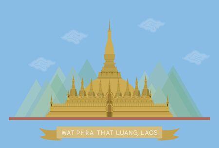vector of wat phra that luang, Laos