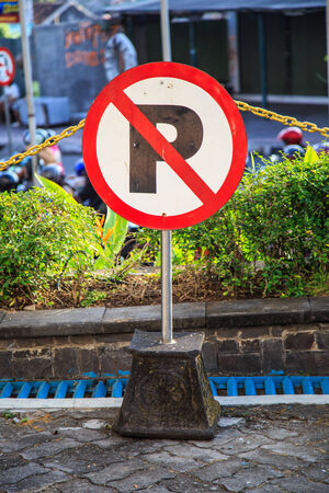 universally: Signs, parking signs are used universally throughout the world  Stock Photo