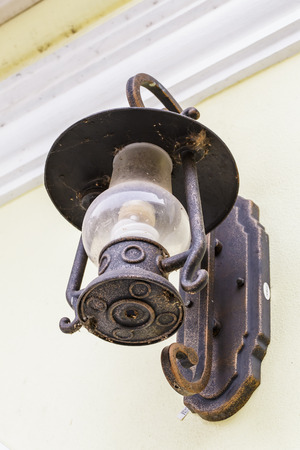 Wall lamp vintage  Is very popular nowadays  And commonly installed outside the building  photo