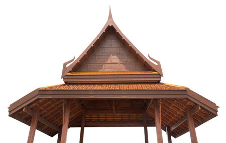 tier: Roof terracotta tier red color thailand style