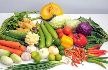 Mix vegetables on white table Stock Photo - 9981881