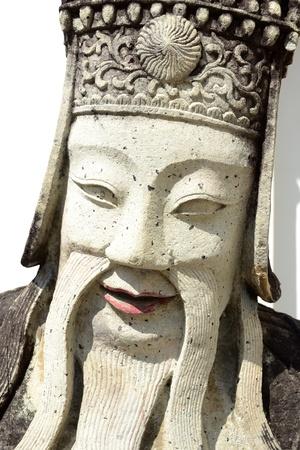 ballast: Stone carving ballast doll at Wat Pho Bangkok. Ancient stone carved ballast from China