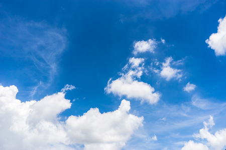 blue sky with cloud for background Stock Photo