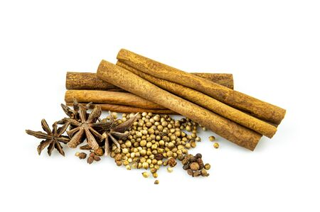 SpSpices, seasonings, food On the white back.