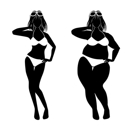 goes: The woman who goes on a diet Illustration