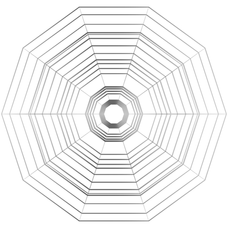 Hexagonal stripes design vector illustration