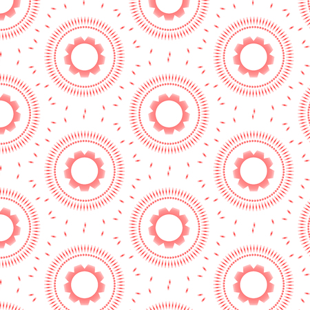 Patterned red circles background vector Çizim
