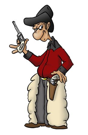 buckaroo: A gun-toting, trouble-making cowboy with a mean glare and some big wool chaps.