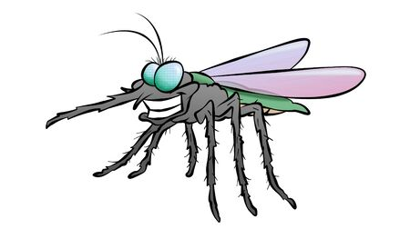 A cartoon mosquito who looks like hes found his next victim.