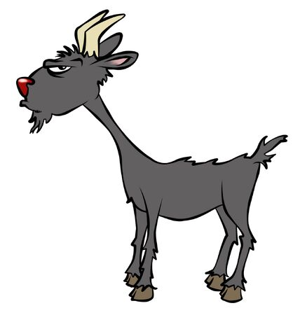 A cranky cartoon goat.