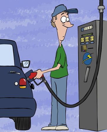 pit: Pumping gas these days. Filling your tank, draining your bank account.